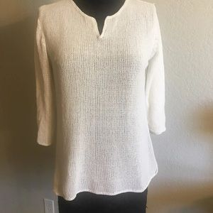White lightweight sweater